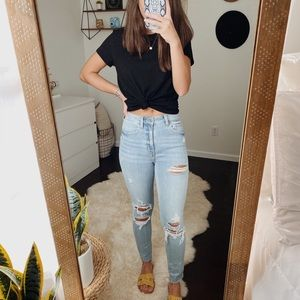 Eunina Super High Rise Skinny Jeans